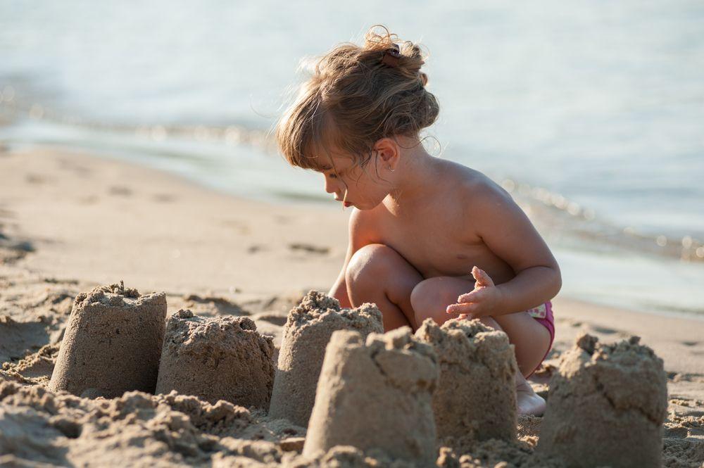 castello di sabbia perfetto