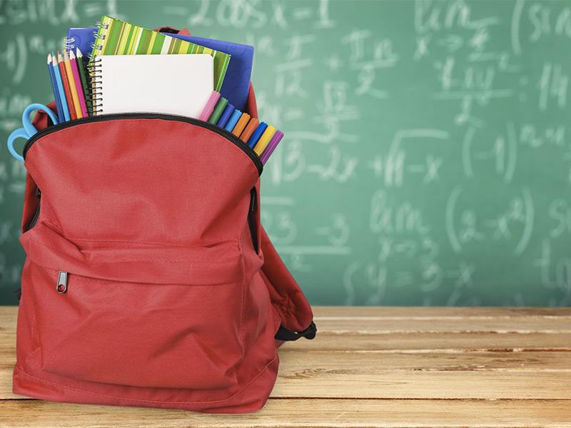 materiale scolastico usato