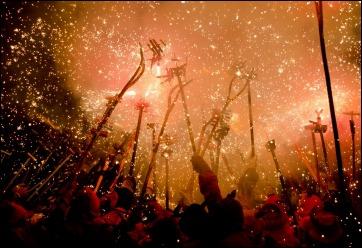 Fiesta de Gracia Barcellona Ferragosto