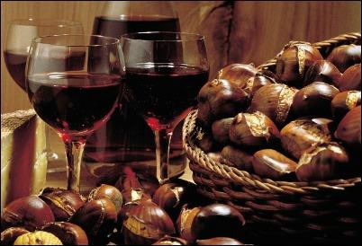 caldarroste e vino