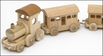 trenino di legno usato