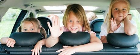 comportamento corretto in auto dei bambini