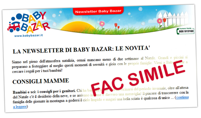 newsletter baby bazar