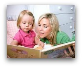 mamma bimba leggere