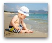 bimbo spiaggia
