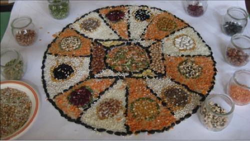 mosaico legumi
