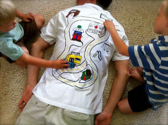 lavoretto maglietta papà