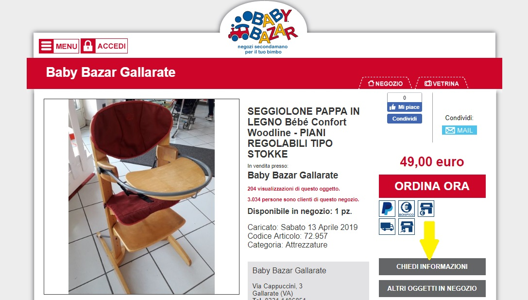 acquisti online BB Gallarate