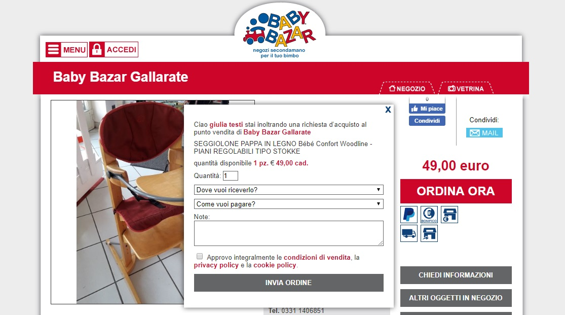 BB Gallarate vetrina web