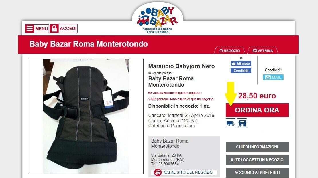 vetrina online baby bazar