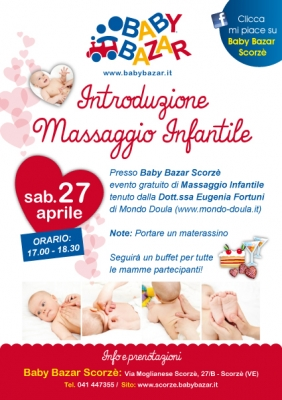Introduzione al massaggio infantile al baby bazar scorze 39 for Babybazar scorze
